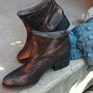 Not Rated Copper Bronze Sparkly Bootie